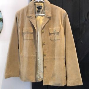 Suede Jacket from Style & Co. size Large Petite